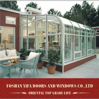 High quality sun room/best seller sunrooms with laminated glass /aluminium sunrooms