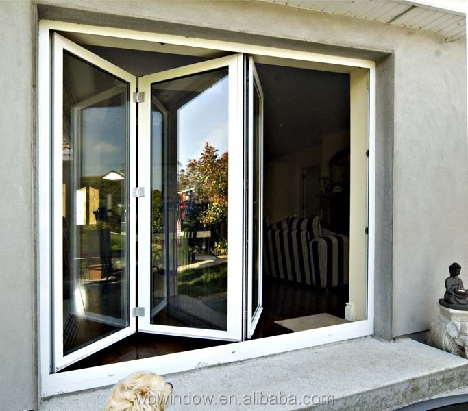 Upvc Frame Horizontal Sliding Folding Design Doors For
