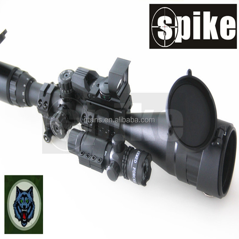 6- 24x50 cannocchiale da puntamento ottico fucile scope+4 tipo reticolo red dot mirino reflex red dot scope+infrared dot mirino laser per fucile ad aria compressa