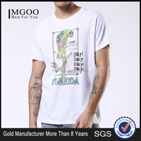 MGOO Custom 100 Cotton Silk Screen Print T-shirt Short Sleeves White Tops Front Images Print Tops