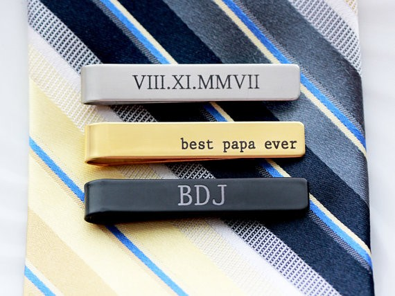 Manufacturer Custom Stainless Steel Engraved Tie Clip Tie Bar Personalized 2020 Christmas Gift For Man Father boyfriend