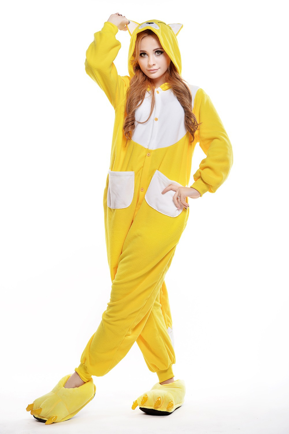 Yellow Footed Pajamas Adults Breeze Clothing