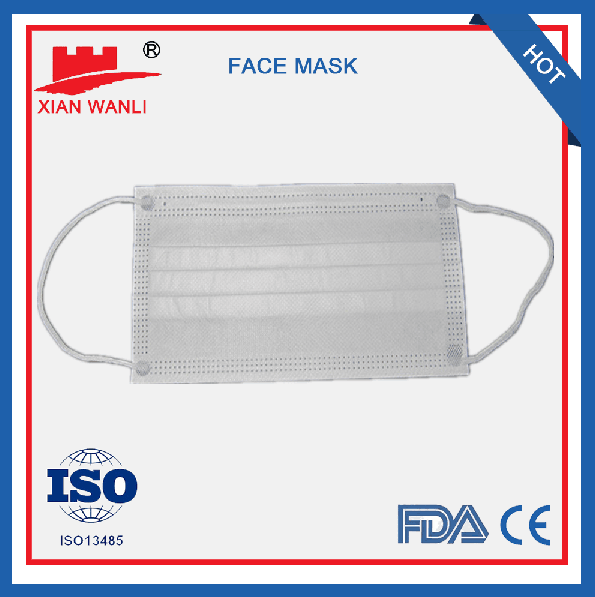 disposable virgin material three ply face mask for Japen market