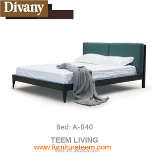 Diavny last design Italy design modern style solid wood leather bed