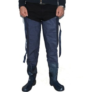 Fashionable rain pants 100% waterproof half body wear-resisting chest wader One-piece rain boots