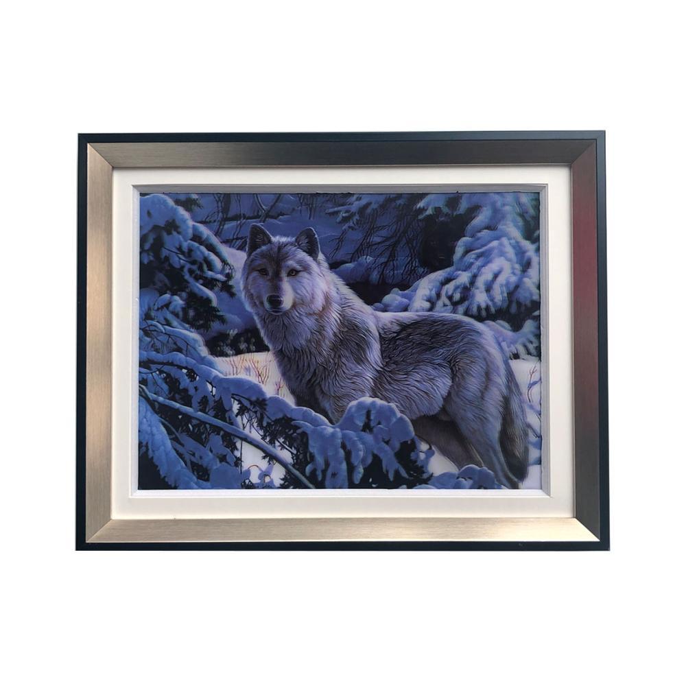 5D Lenticular Bingkai 5D Gambar Hewan Serigala