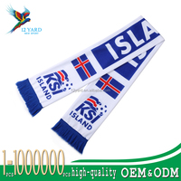 hot style football fan cheering warm Iceland Scarf