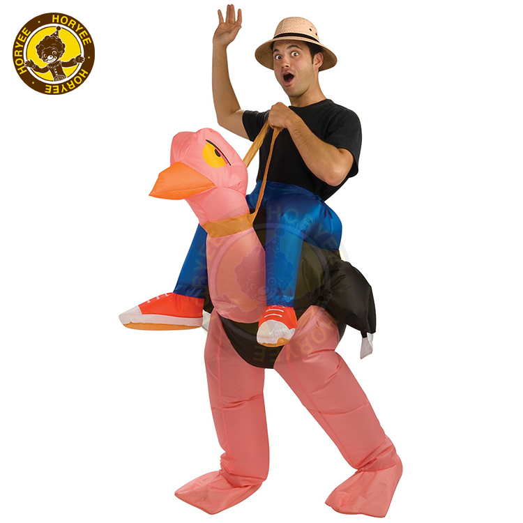 Polyester Inflatable Ostrich Costume, Adult Inflatable Ostrich Costume