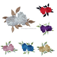 Embroidery Patches Flower Rose Appliques for Jackets Jeans Backpacks(Factory price)
