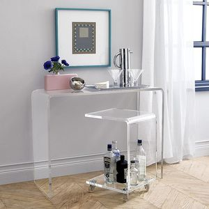 Acrylic modern design console table