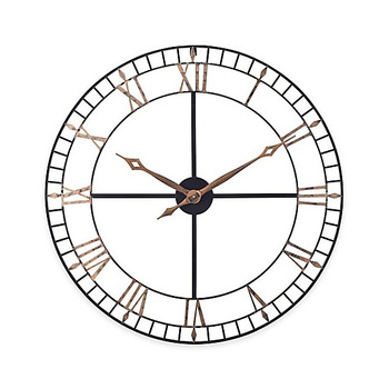 Vintage Retro Indoor Loft Industrial Large Iron Metal Wall Clock Roman Metal Craft Clock Factory Directly