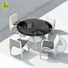 4 pcs armless chair+round table