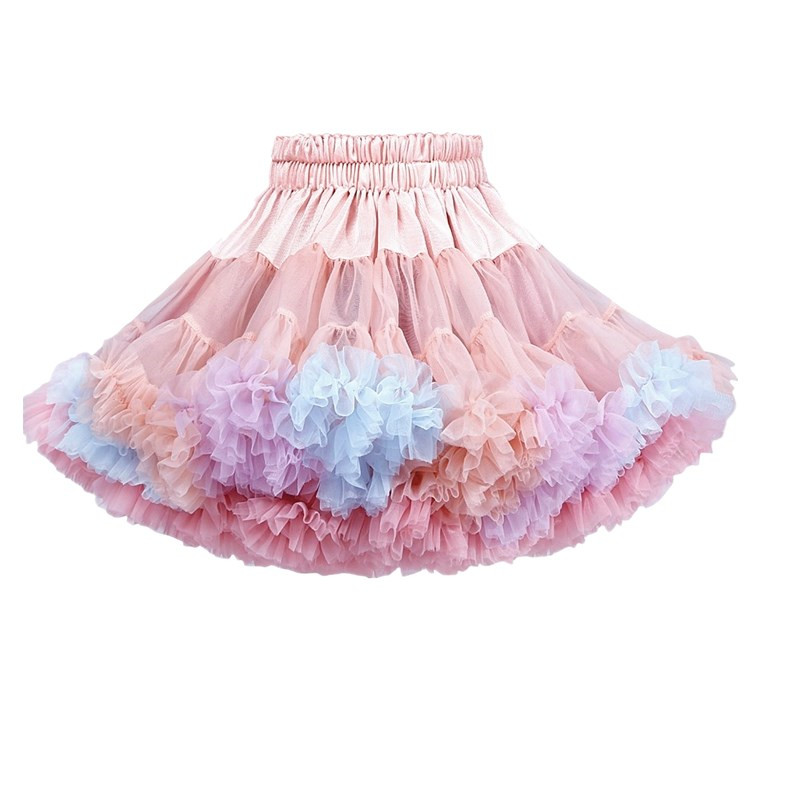 High Quality Baby Girls Tutu Skirt Fluffy Children Ballet Kids Pettiskirt Baby Girl Skirts Princess Tulle Party Dance Skirts