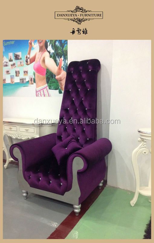 Purple Velvet Fabric High Back Hotel Chair,Model Throne Chair   Buy High  Back Hotel Sofa Chair,French High Back Chair,Antique High Back Chairs  Product On ...