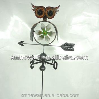 Owl Decoration Garden Wind Vane Decoration Stick Decoration