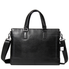 Wholesale custom high end Italy import genuine cowhide leather retail authentic business men 's handbag briefcase laptop bag