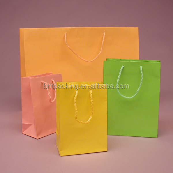 Eco reusable colorful foldable paper document bag