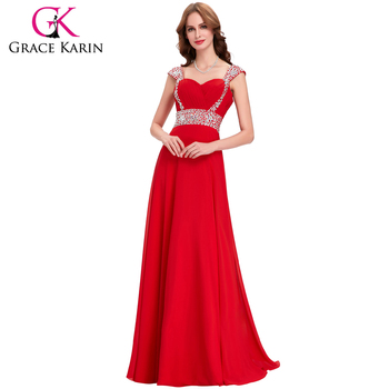 Grace Karin Ladies Strapless Formal Evening Dresses 2016 Chiffon