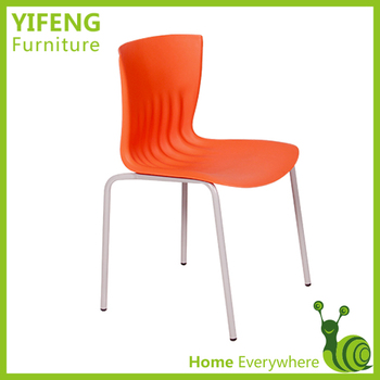 metal frame modern plastic dining chair factory manufacturer