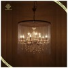 Wholesale and Retail Wrought Iron Chandelier Crystal Lampshade Pendant Lamp Black Vintage Loft Light