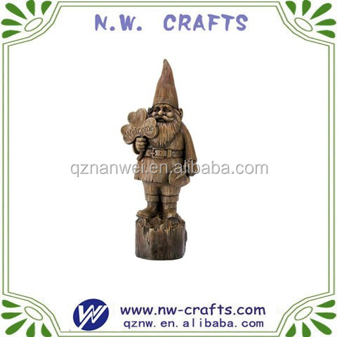 Polyresin welcome gnome statue Garden decoration