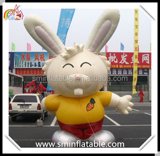 Commercial inflatable rabbit, lovely standing inflatable bunny, outdoor exhibition inflatable animal replica for advertising