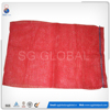 Red hdpe small plastic raschel mesh bag for narrow walls