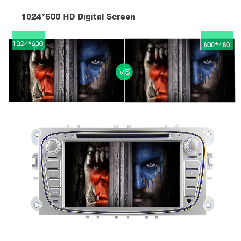 "7 ""Android 7.1 2 Din Auto Dvd-speler GPS Systeem ondersteuning 3G Wifi voor Mondeo S-max C-Max Galaxy WE7009"