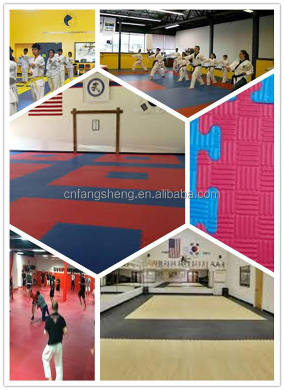 blue taekwondo eva tatami jigsaw puzzle mats/taekwondo breaking wood board taekwondo wood board exercising equipment