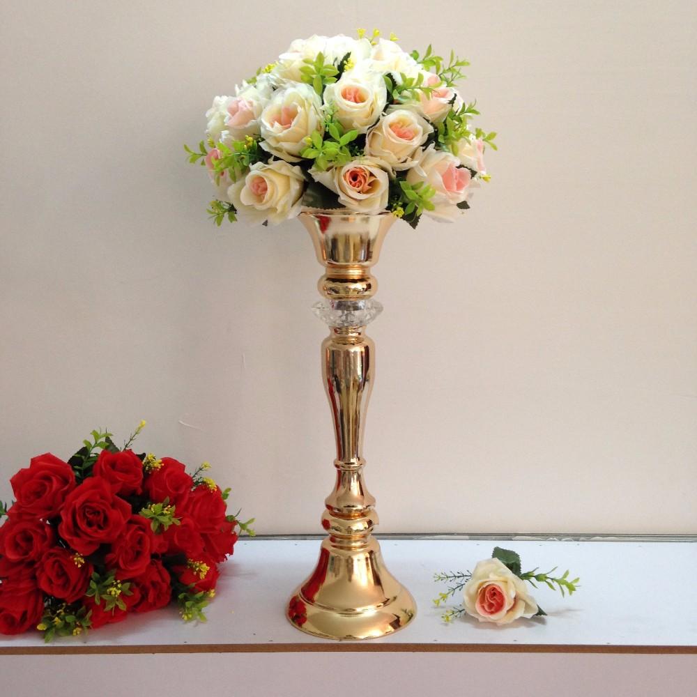 Enjoyable Height 48Cm 18 9 Gold Table Flower Vases Golden Table Centerpiece Table Decor Wedding Decoration 10Pcs Lot Wedding Lead Roads Beutiful Home Inspiration Truamahrainfo