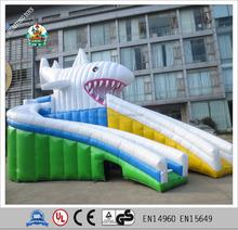 8d4199026745b7 Nieuwe opblaasbare haai crazy fun cartoon opblaasbare glijbaan air zwembad