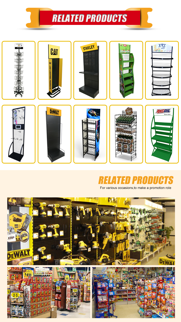 supermarket flooring hook metal store display stand