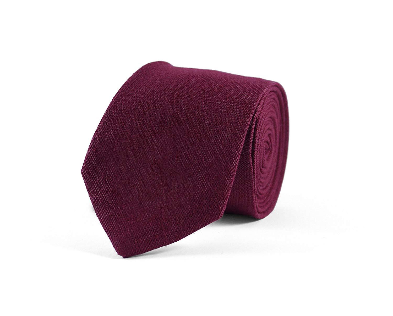 45fa3d6ba8dc Plum necktie/ plum groomsmen tie/ Plum color men's necktie deep purple mens  tie plum