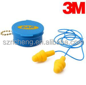 3M Corded Earplugs , swimming ear plugs 340-4002 in Carrying Case