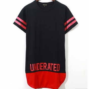 Hiphop Style Unisex Red Stripe Oversize Extended T Shirt - Buy ... e15e2c9d2a79