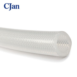 Food grade tube polyester fiber braided reinforced silicone hose Braided flexible hose Medical Grade Silicone Tubing