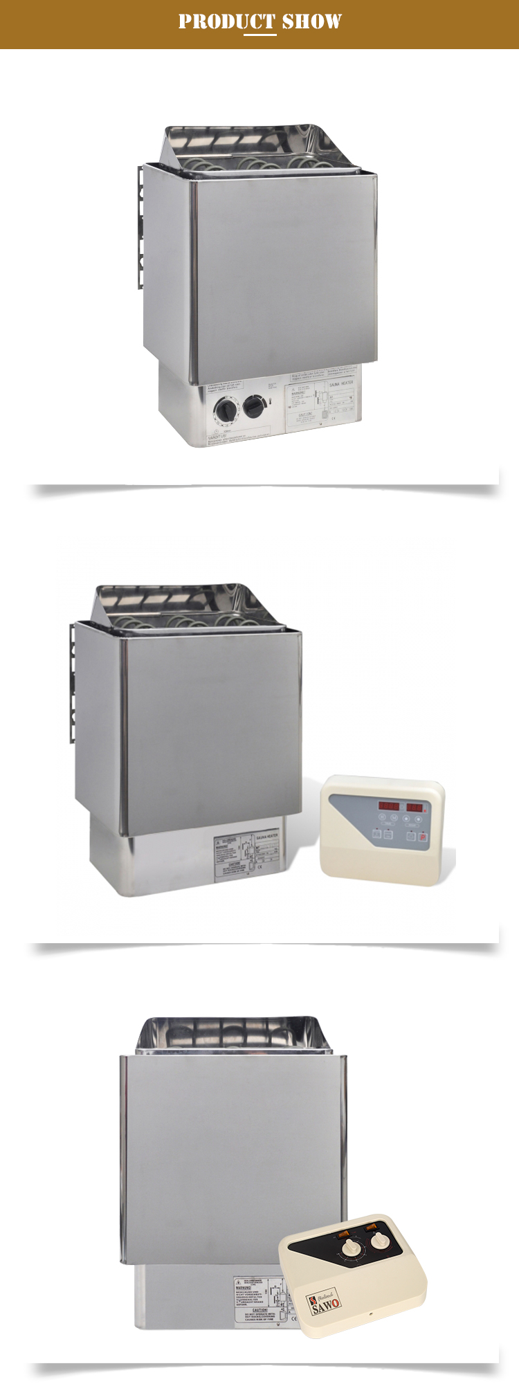 Hot koop factory prijs 220 V/380 V 3KW 6KW 9KW elektrische saunakachel