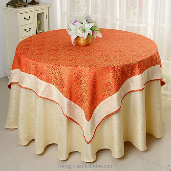 Jacquard Table Cloth Damask For Wedding Decoration Round Underlay