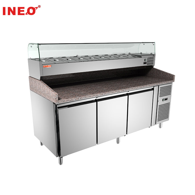 Stainless Steel Commercial Pizza Refrigerator Pizza Work Table