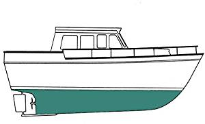 Copper Shield Uno Admiral Green Quart - 35 Copper Ablative - Marine Paint Antifouling Bottom Paint - iPaint.us