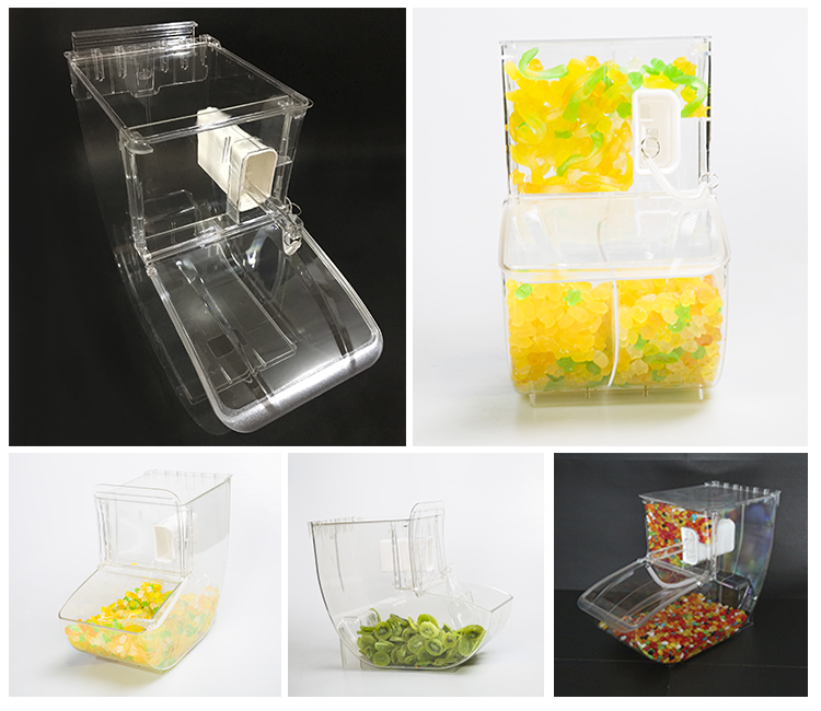 Ecobox Clear cube  dry food dispenser/bulk food bin/ scoop bin