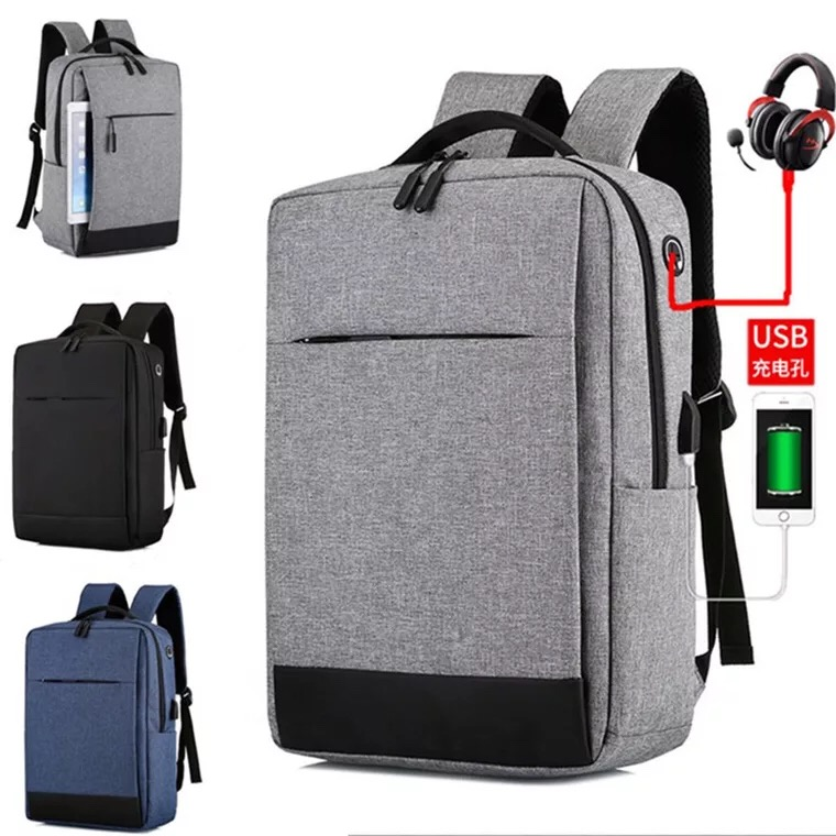 Wholesale korea large capacity fashion casual USB charge woman laptop bag