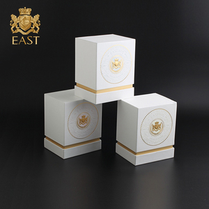 Luxury Custom White Emboss Cardboard Gift Packaging Candle Box for perfume box