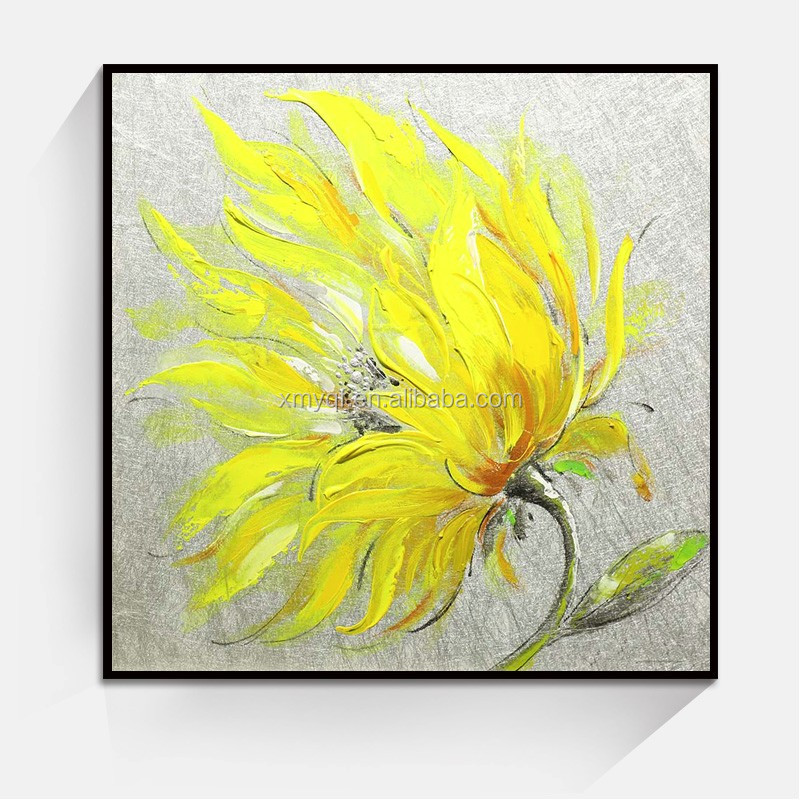 Handpainted single flower painting for Modern Living Room Home Wall Art Decoration
