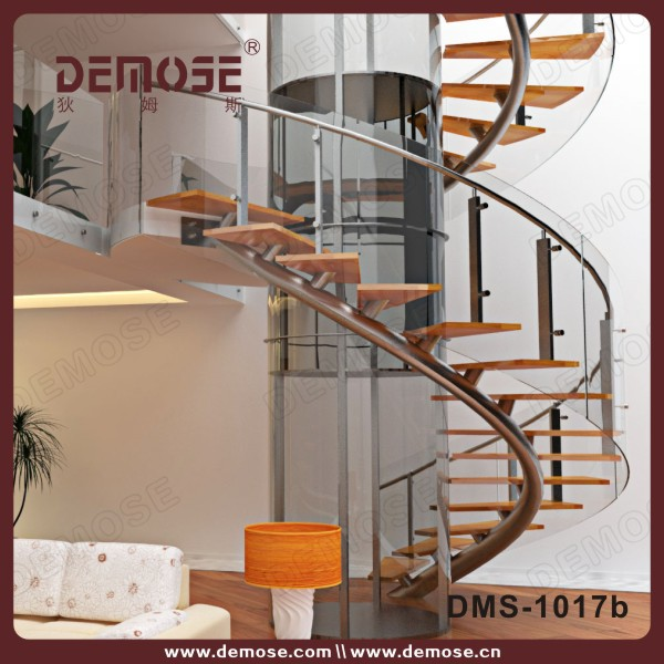 White Cast Iron Material Used Spiral Staircase Circular Stairs
