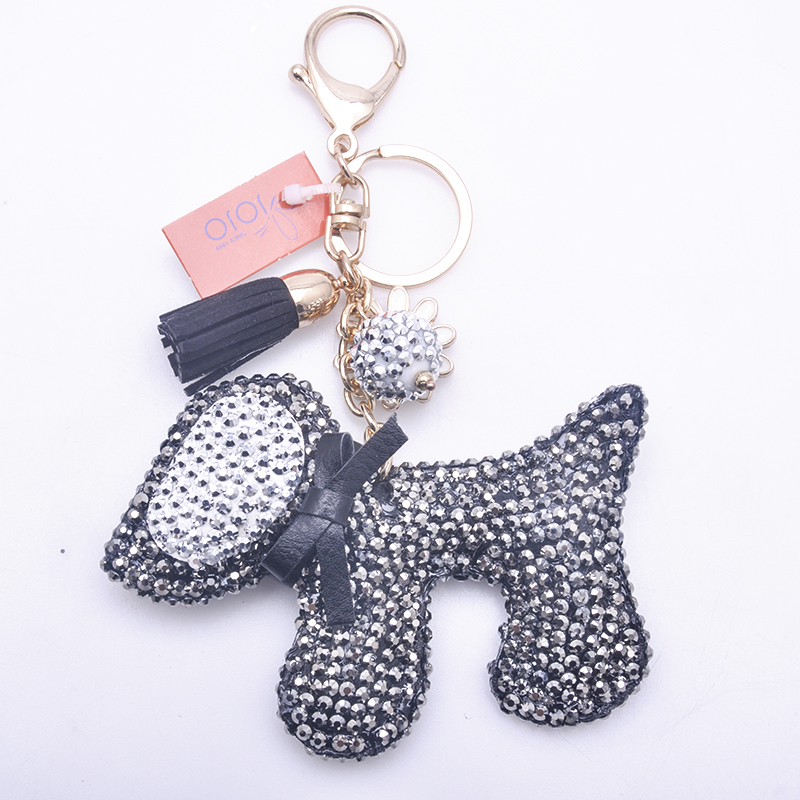 Newest wholesale fashion metal cute colorful rhinestone horse keychain