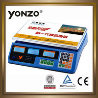 yongzhou blue housing 40kg electronic digital price computing scale from yongzhou factory manufacturer