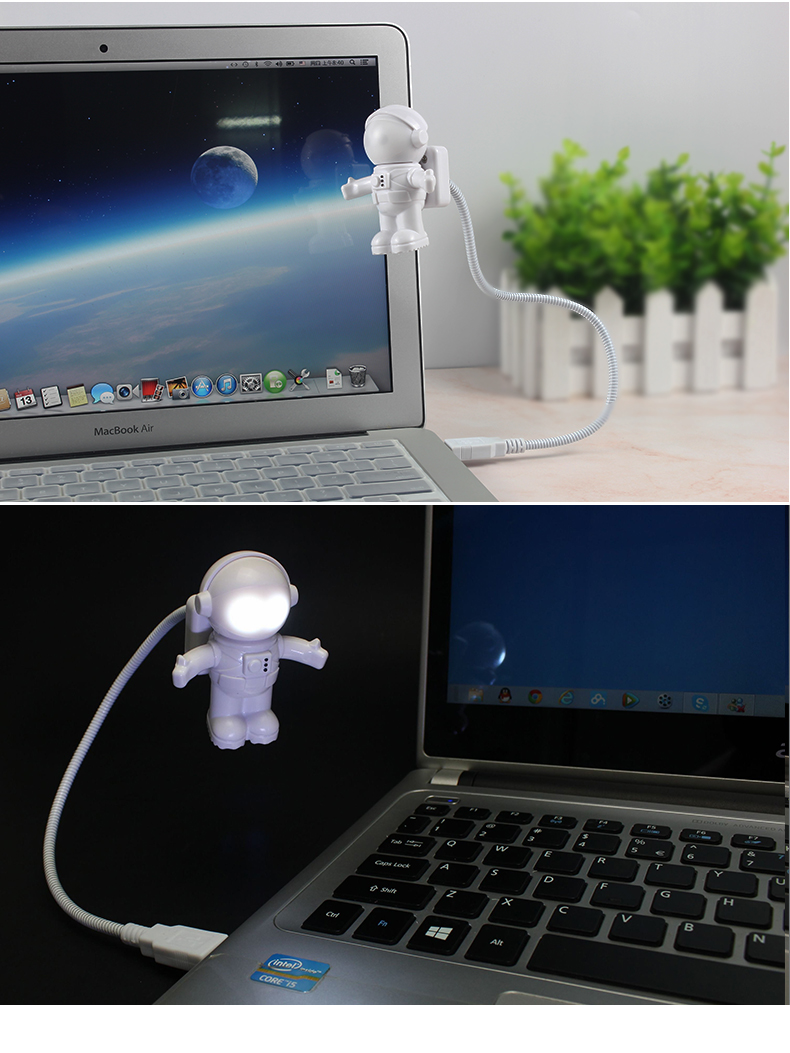 Mini Cool astronaut spaceman USB LED Light For gift