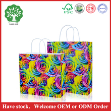 China manufacturer High quality Kraft paper shopping bag with company logo full color