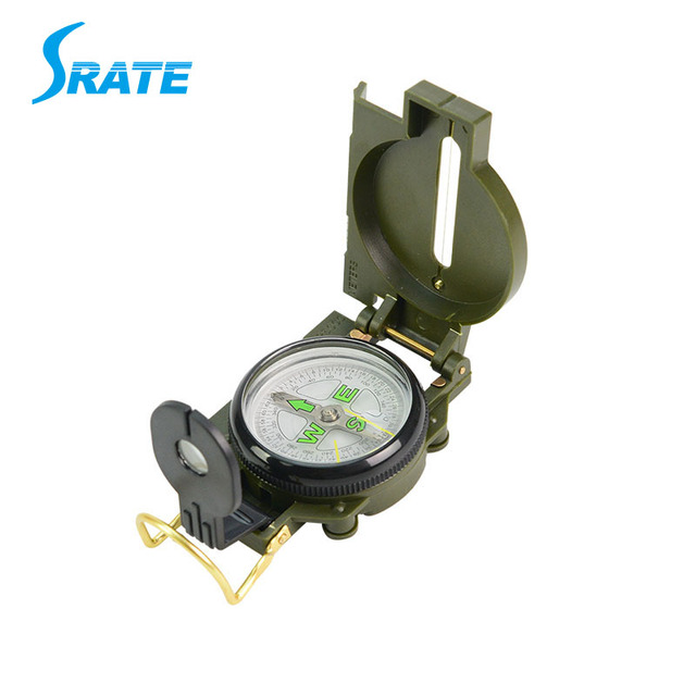 US Army Plastic Camping Outdoor Travel Military Equipment Multifunction Foding Compass For Kids